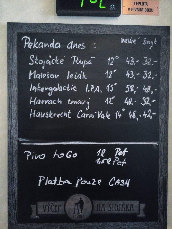 Výčep Na stojáka Pekanda 06.03.2017
